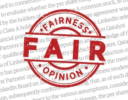 fairness opinion stamp of approval