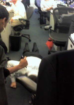 pushups on the trading floor
