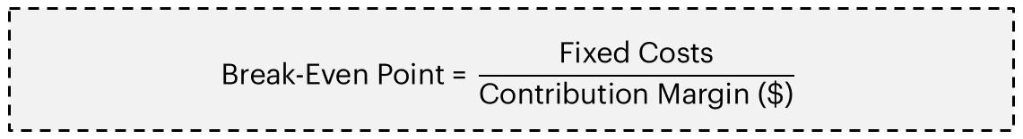 BEP Formula