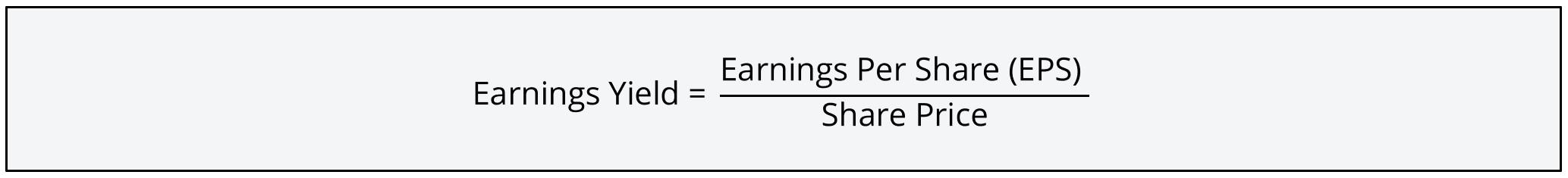 Earnings Yield Formula 1