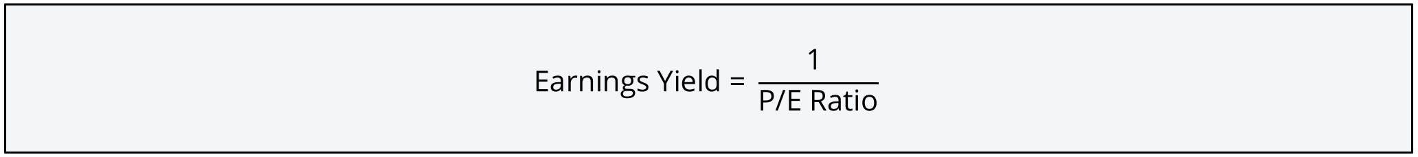 Earnings Yield Formula 2