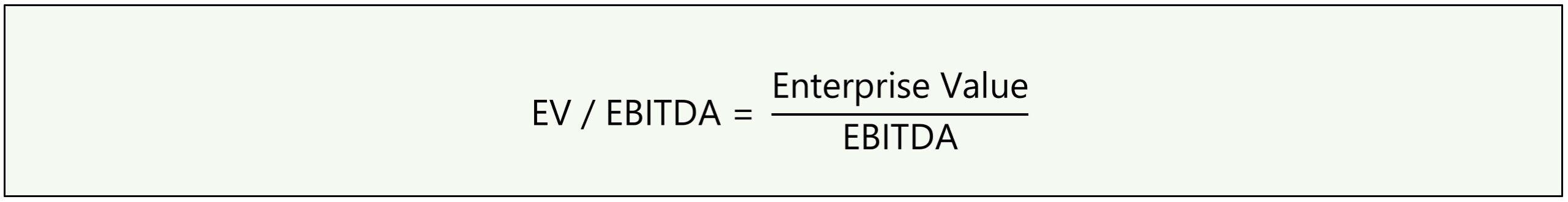 EV to EBITDA Formula